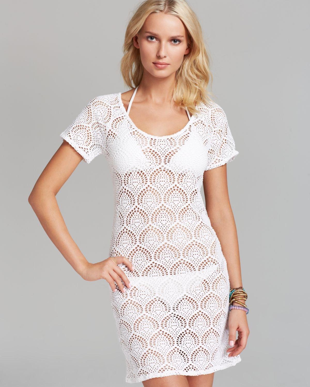 La Blanca Casablanca Crochet Swim Cover Up Dress In