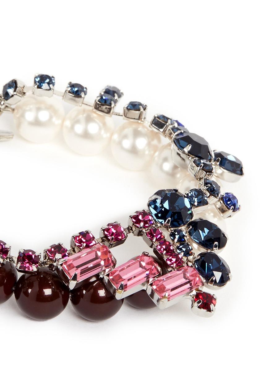 Lyst Joomi Lim Crystal Bead Double Strand Bracelet