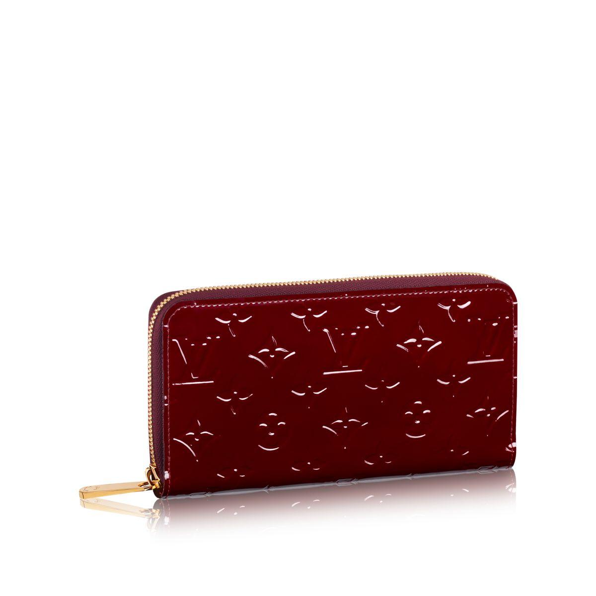 louis vuitton zippy wallet in red lyst