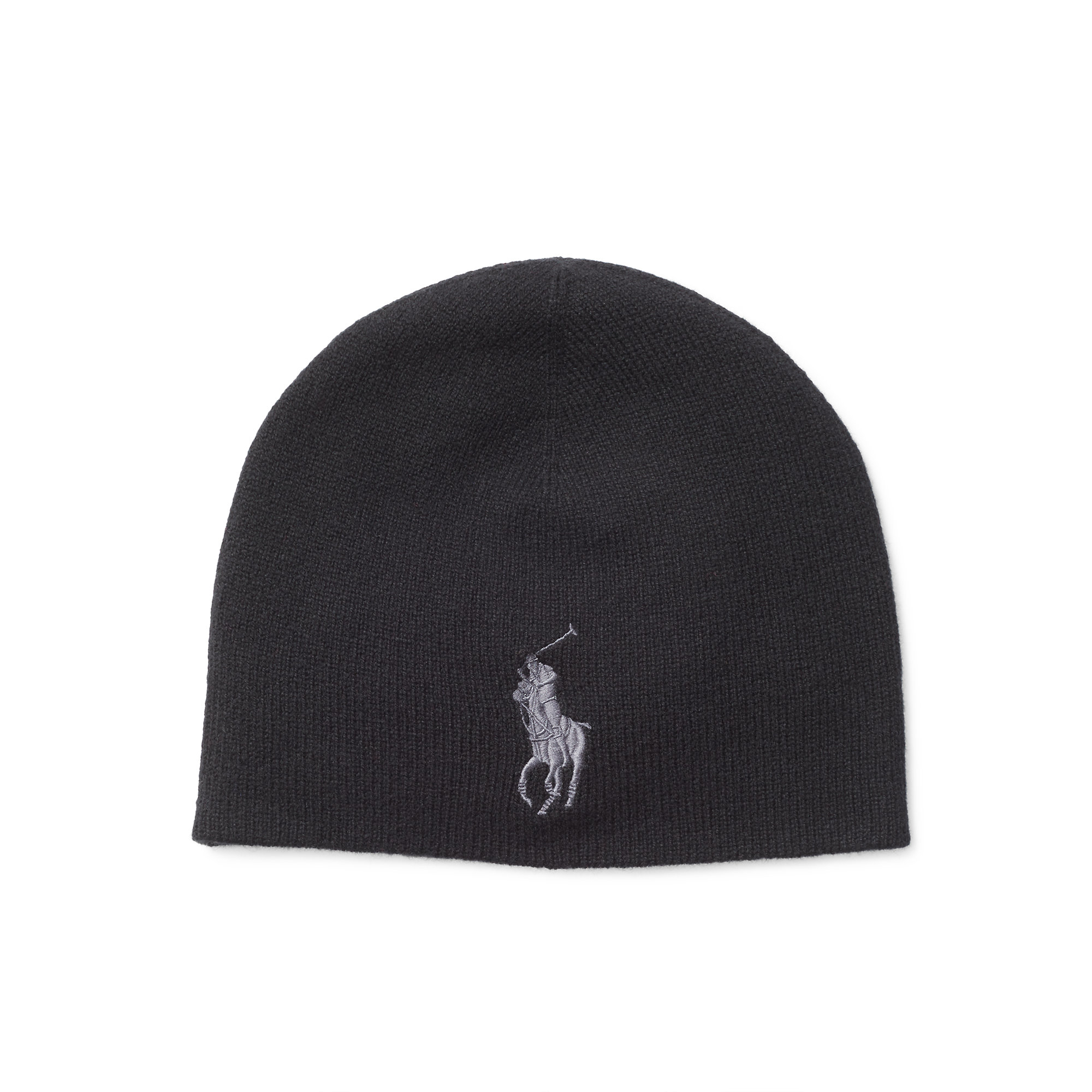 Polo Ralph Lauren | Black Big Pony Merino Wool Cap for Men | Lyst