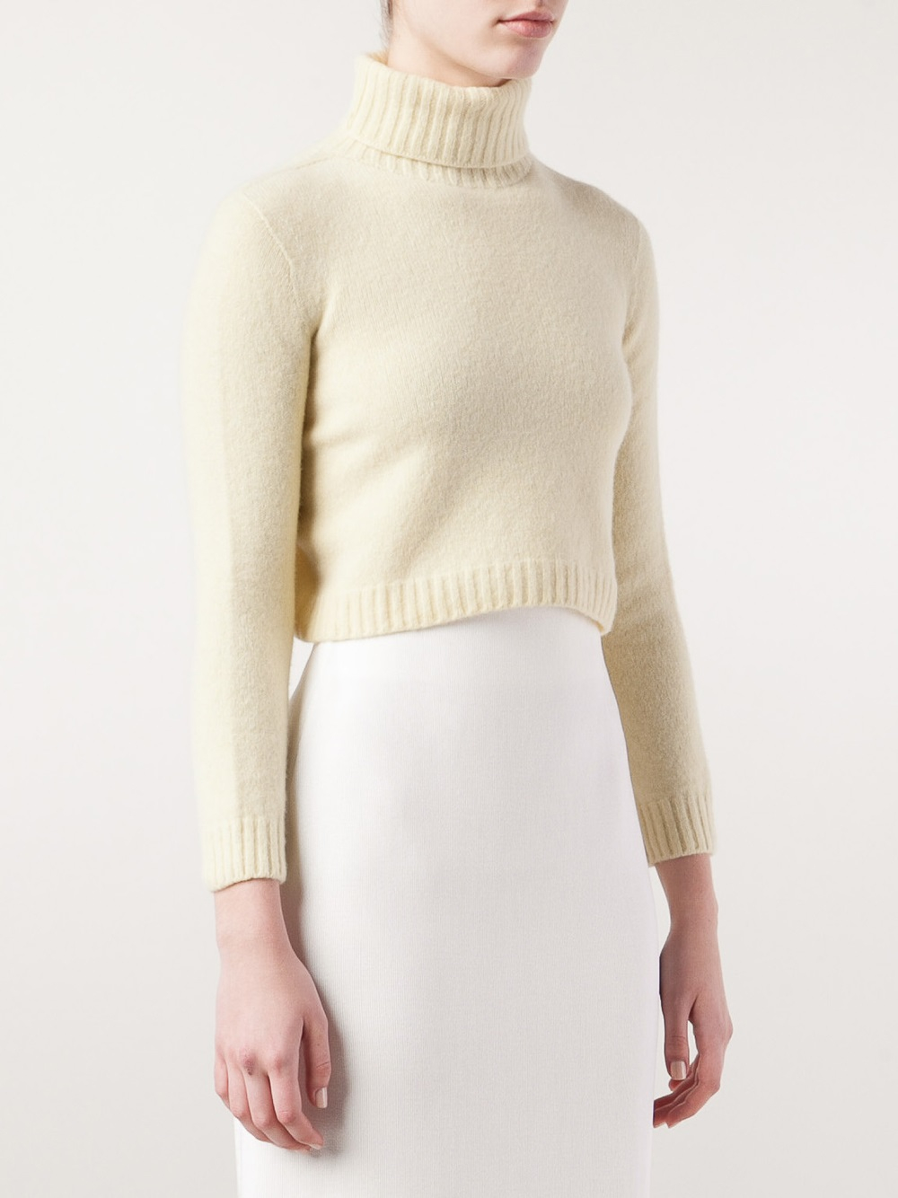 The row Nenette Cropped Sweater in Yellow | Lyst