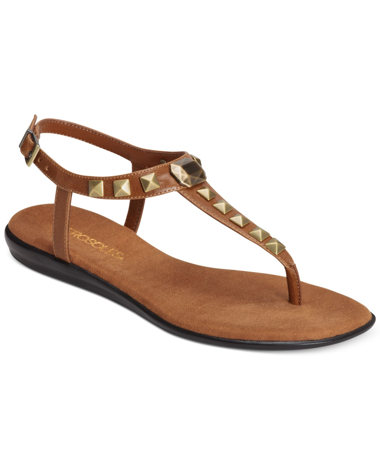 Womens Tan Flat Shoes