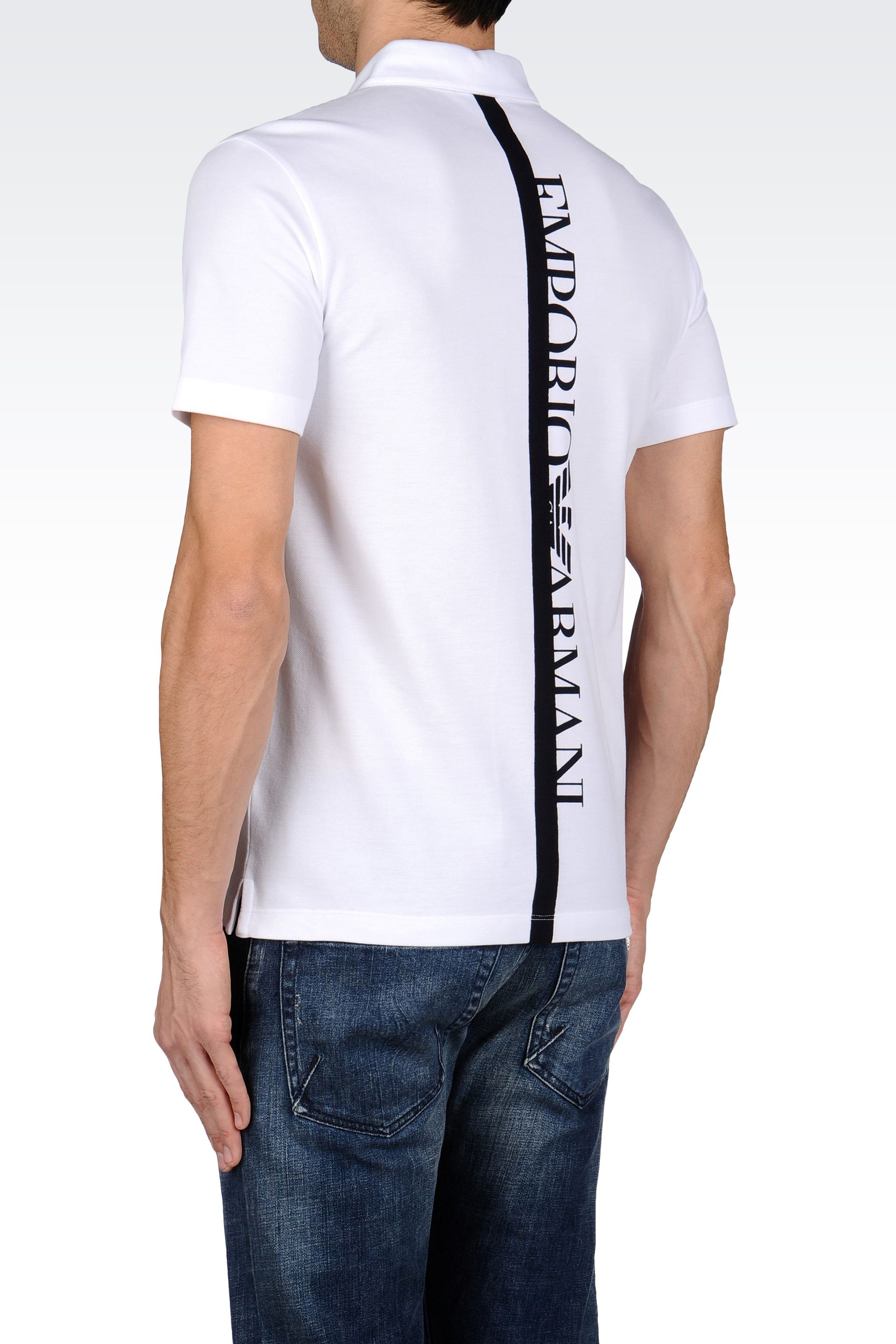Lyst Emporio Armani Polo Shirt In Cotton Piquet With
