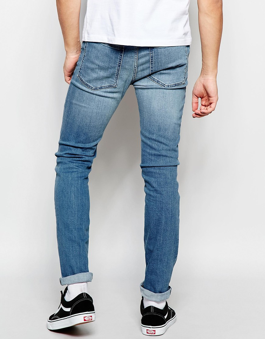 deb531fa387 Lyst - Cheap Monday Jeans Tight Stretch Skinny Fit Blue Wave Light ...