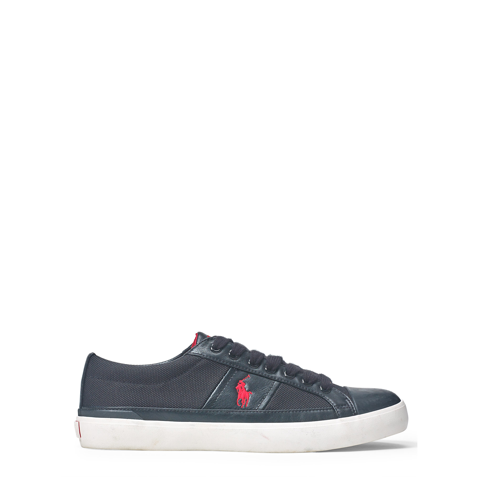 polo ralph lauren hurlston canvas sneaker in black for men lyst. Black Bedroom Furniture Sets. Home Design Ideas