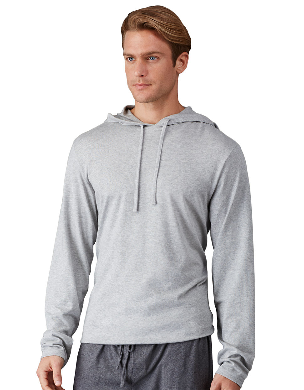 polo ralph lauren supreme comfort jersey hoodie in gray for men lyst. Black Bedroom Furniture Sets. Home Design Ideas