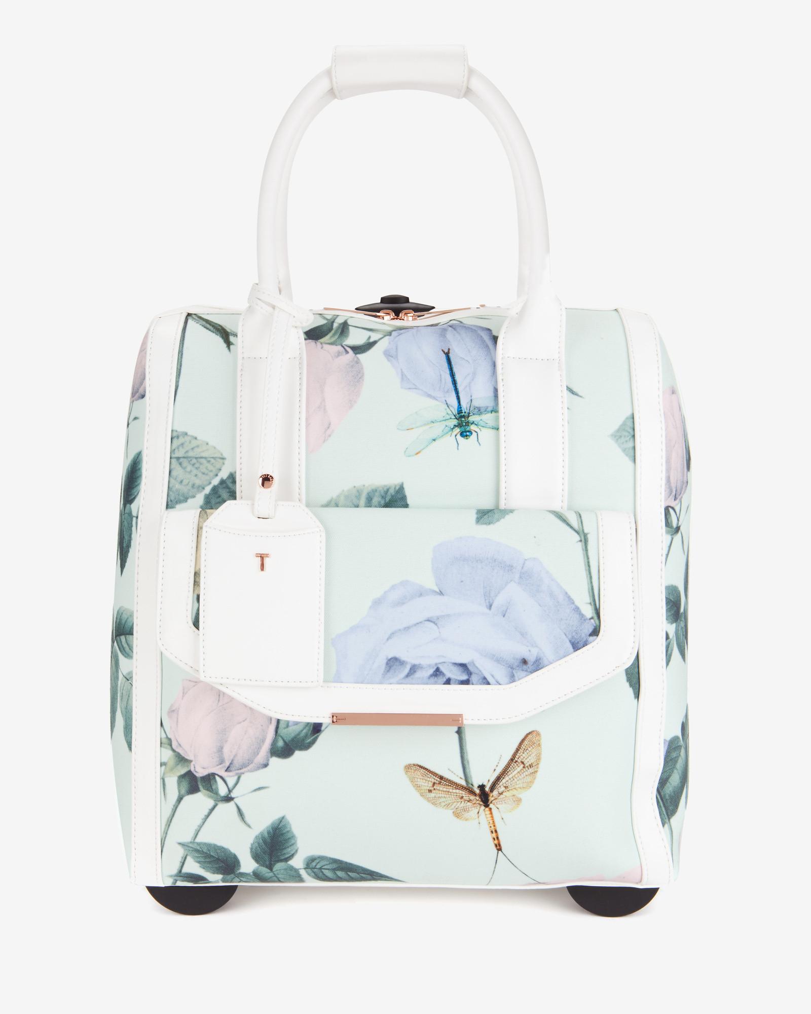 0847fd71e Ted Baker Distinguishing Rose Travel Bag in Green - Lyst
