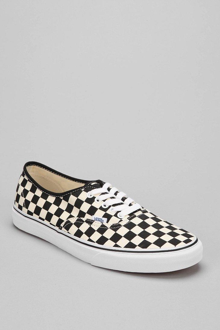 Lyst - Vans Authentic Checkerboard Mens Sneaker in Black for Men e826fc59b