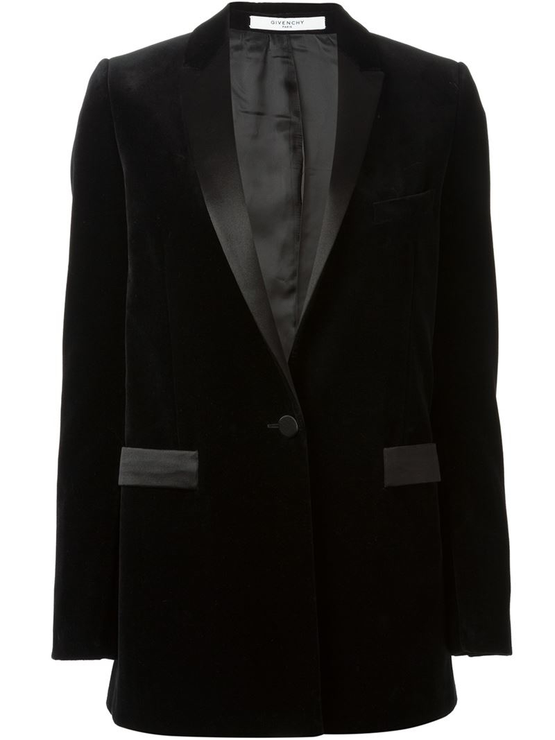 Lyst - Givenchy Velvet Smoking Jacket in Black 28612b2a9d