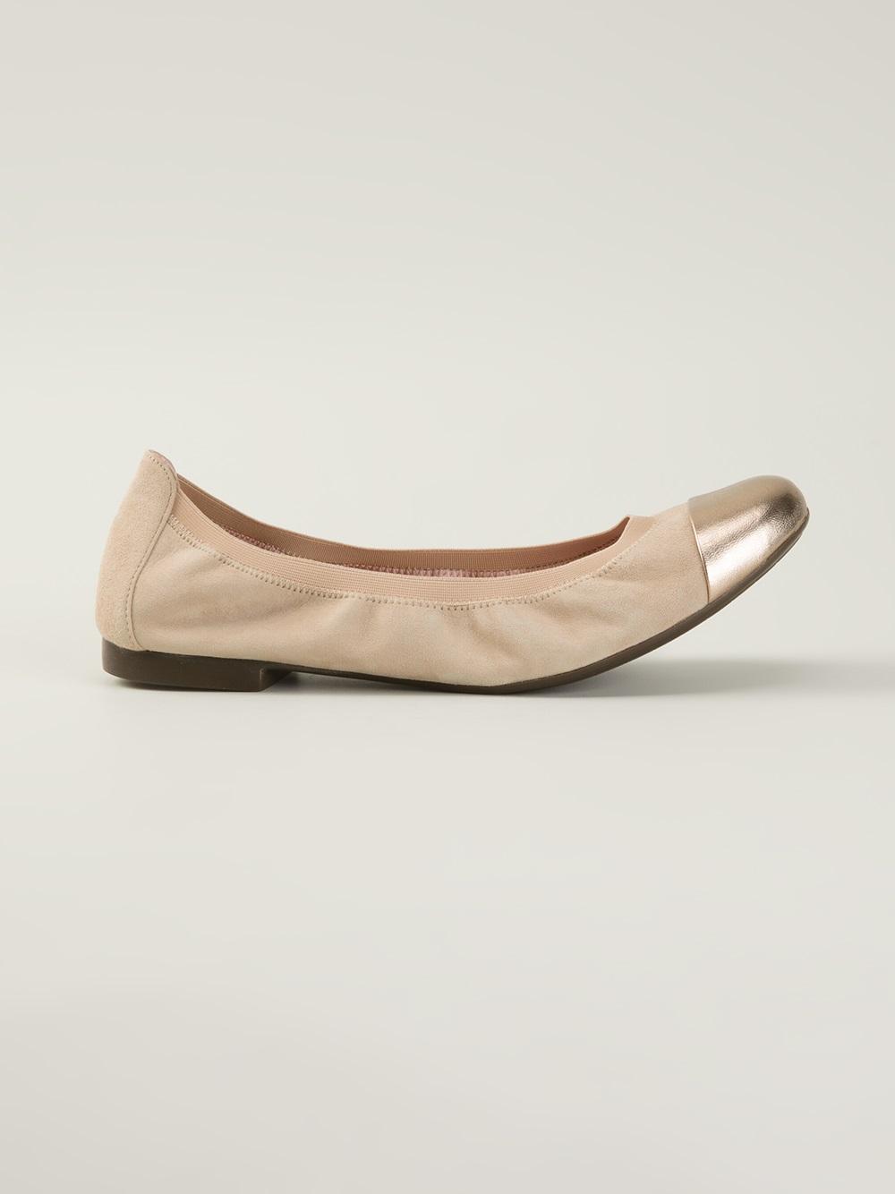 pretty ballerinas angelis ballerinas in beige nude neutrals lyst. Black Bedroom Furniture Sets. Home Design Ideas