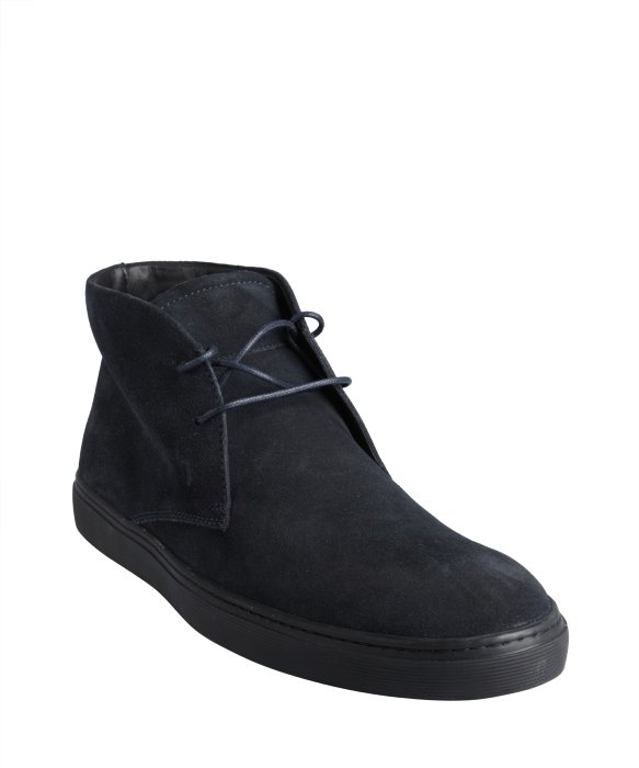 Tod's Navy Suede Lace-Up Chukka Boots in Blue for Men | Lyst
