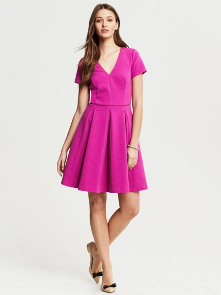Banana Republic Fuchsia Knit Fit And Flare Dress Wild