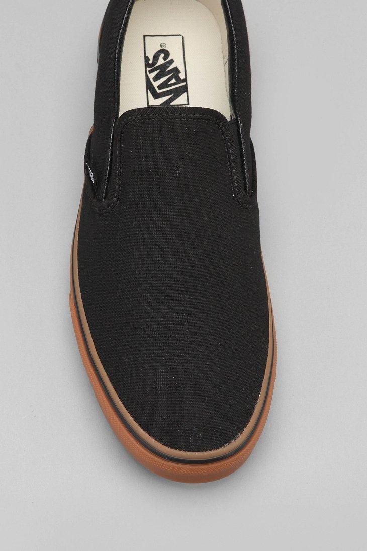 9eec9e9b82 Lyst - Vans Classic Gum-Sole Slip-On Sneaker in Black for Men