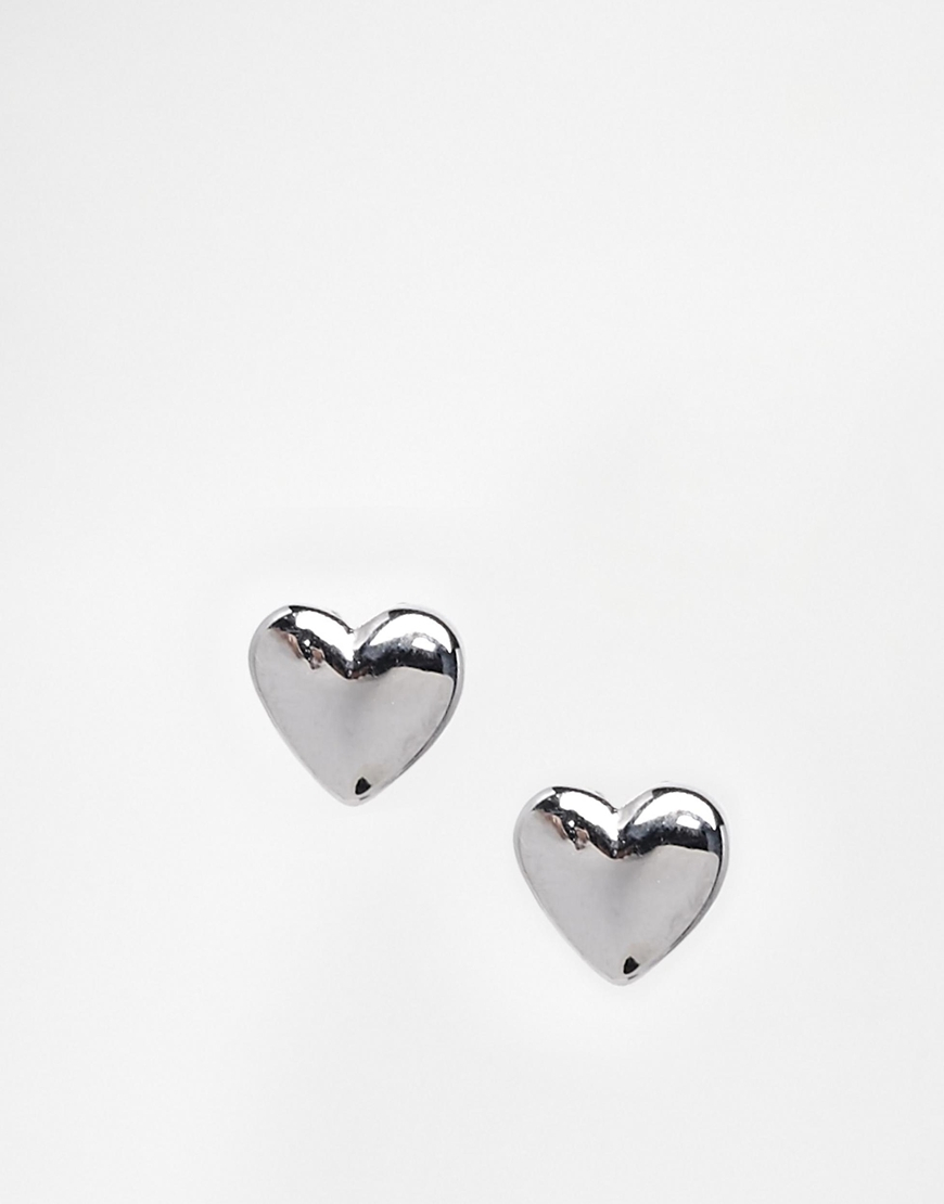 41d9c6b5cab3 Ted Baker Harly Tiny Heart Stud Earrings - Silver in Metallic - Lyst