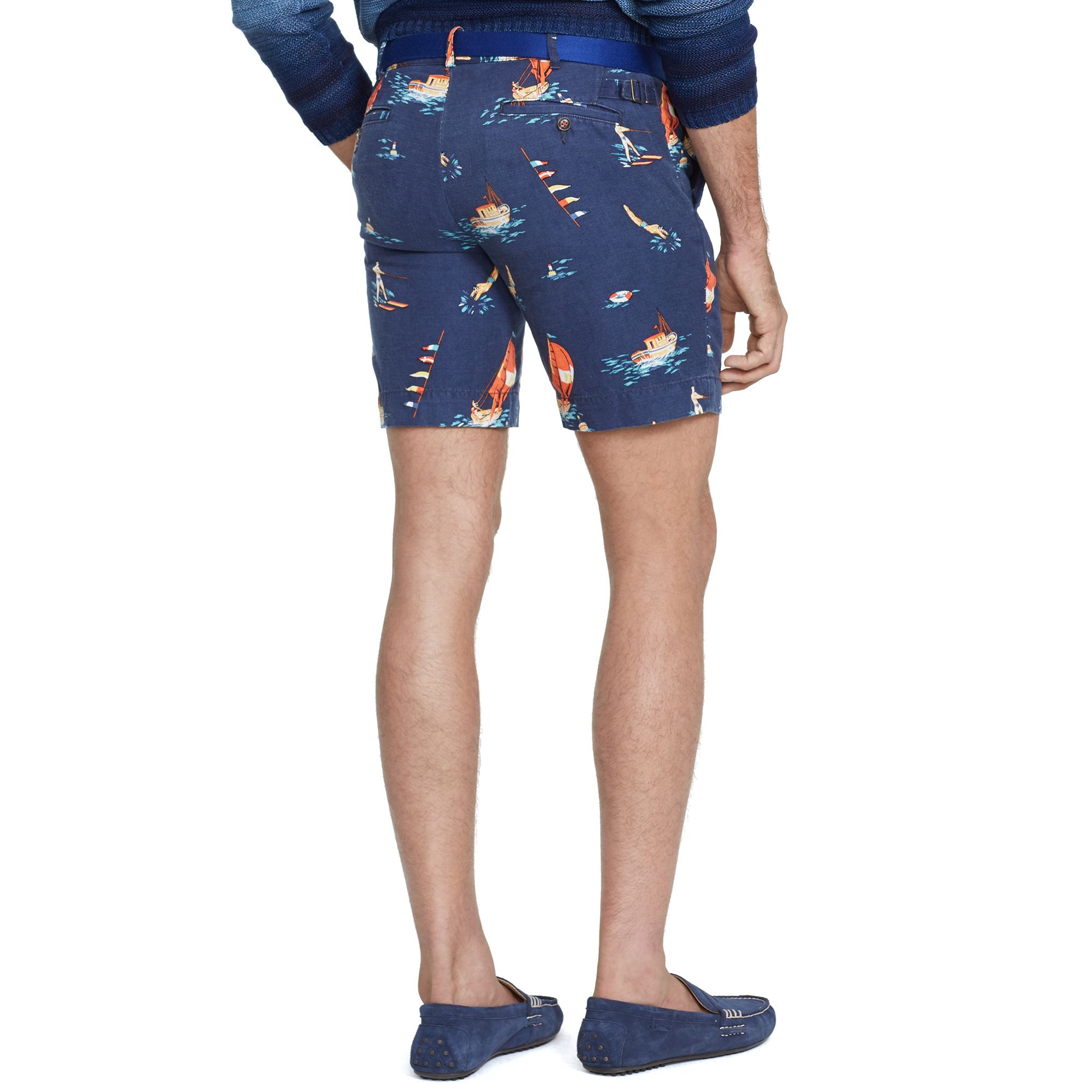 84f3e8bb0f ... shorts 7c003 49755; cheap lyst polo ralph lauren straight fit print  short in blue for men 84934 4f047