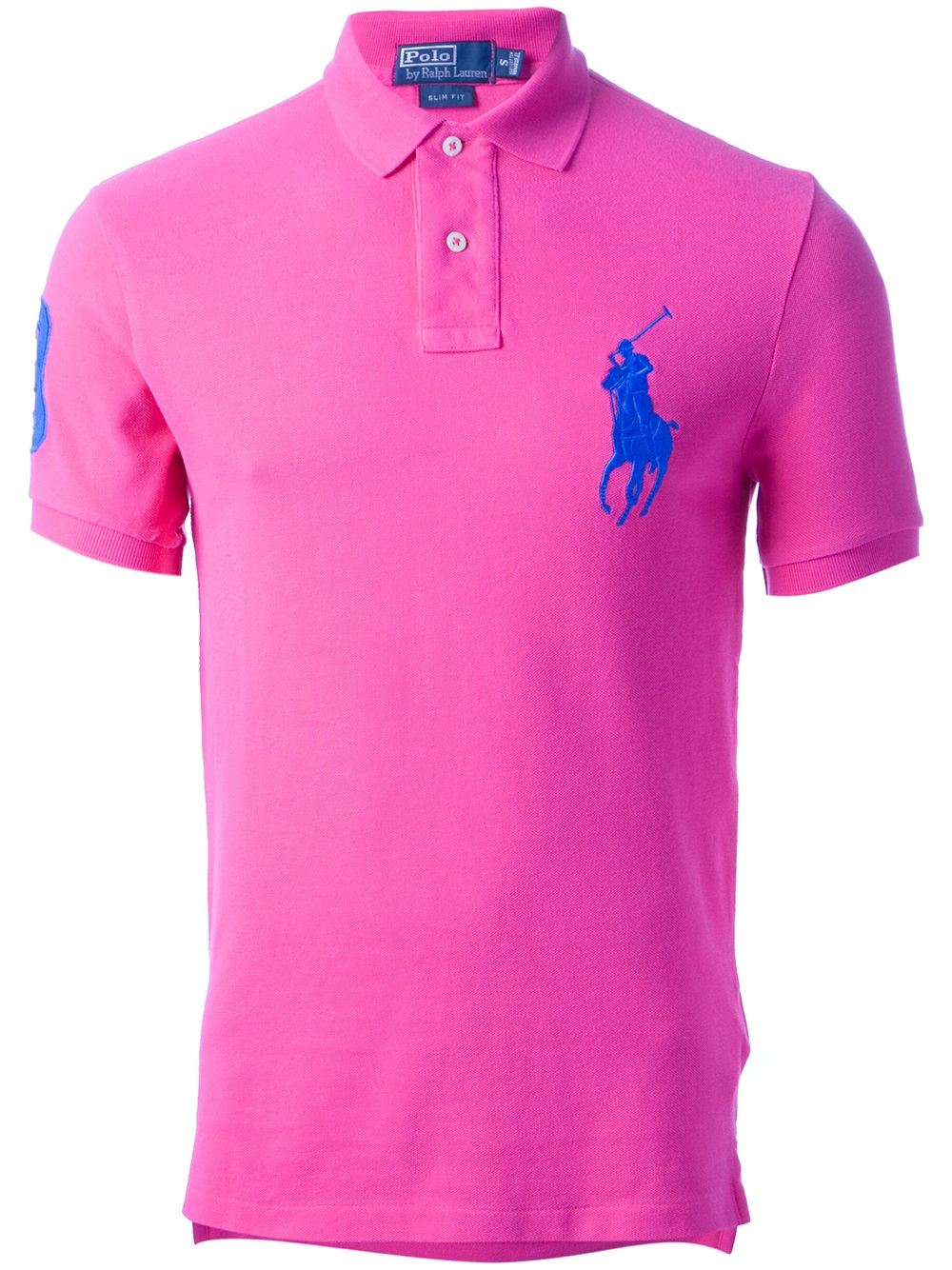 Lyst - Ralph lauren blue label Classic Polo Shirt in Pink for Men
