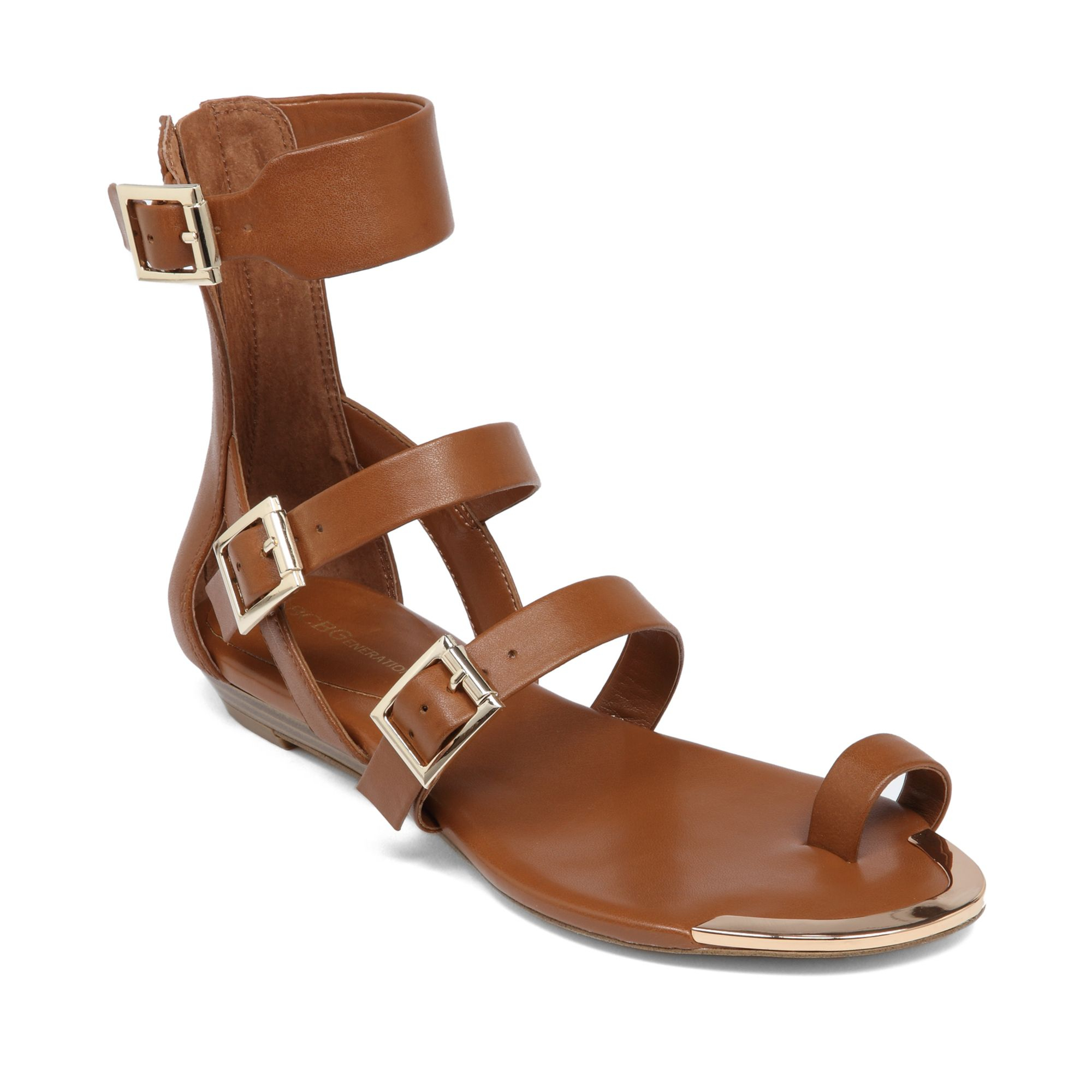 Lyst Bcbgeneration Archy Flat Sandals In Brown