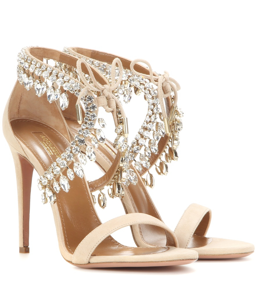get authentic cheap price Aquazzura Suede Embellished Sandals very cheap for sale collections for sale cheap store new arrival BKciyDj1Qb