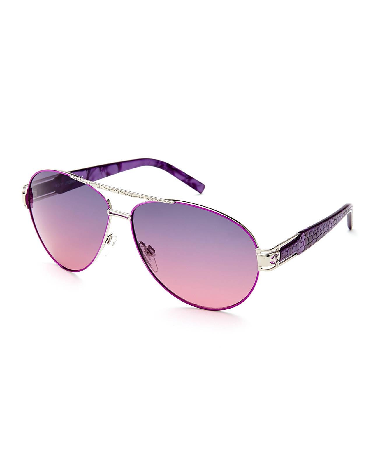 purple aviator sunglasses  Just cavalli Jc400S Metallic Purple Aviator Sunglasses in Purple ...