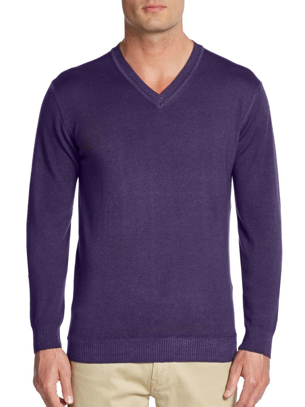 Sand Merino Wool Sweater in Purple for Men | Lyst