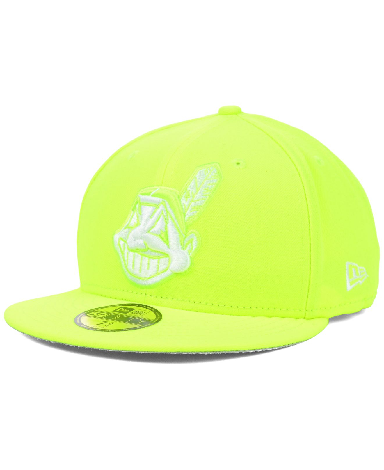 premium selection 42efd 2dcaa wholesale lyst ktz cleveland indians mlb c dub 59fifty cap in yellow for  men d1a6c ba580