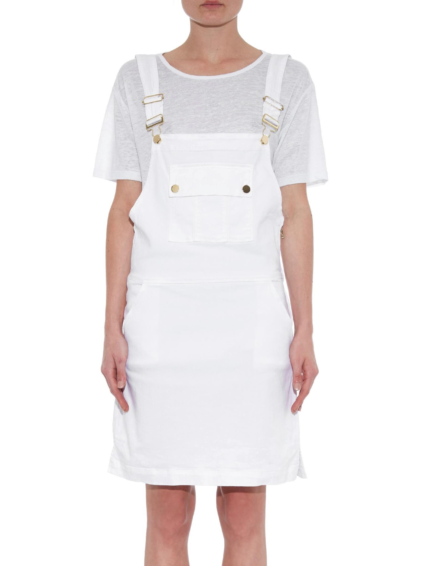 frame denim white le apron overall denim dress product 1 279208307 normal