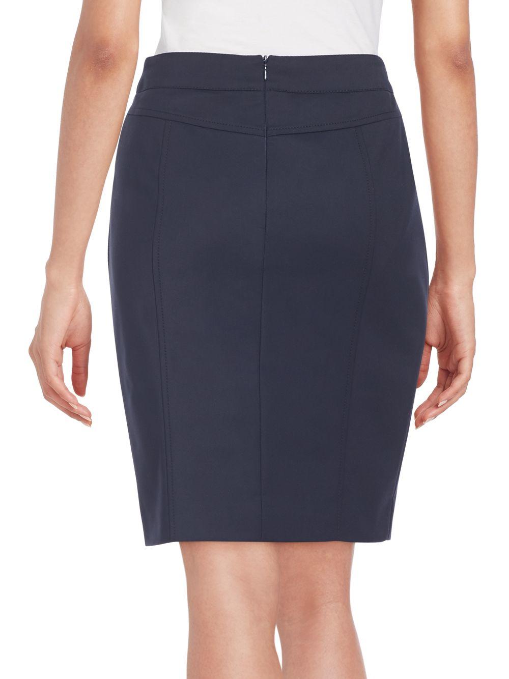 akris pocket detail pencil skirt in black lyst