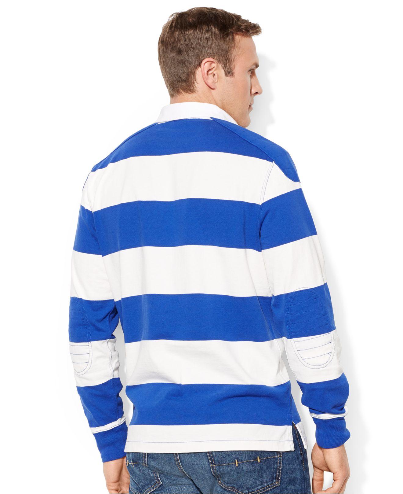 Polo ralph lauren big and tall long sleeve stripe rugby for Long sleeve striped rugby shirt