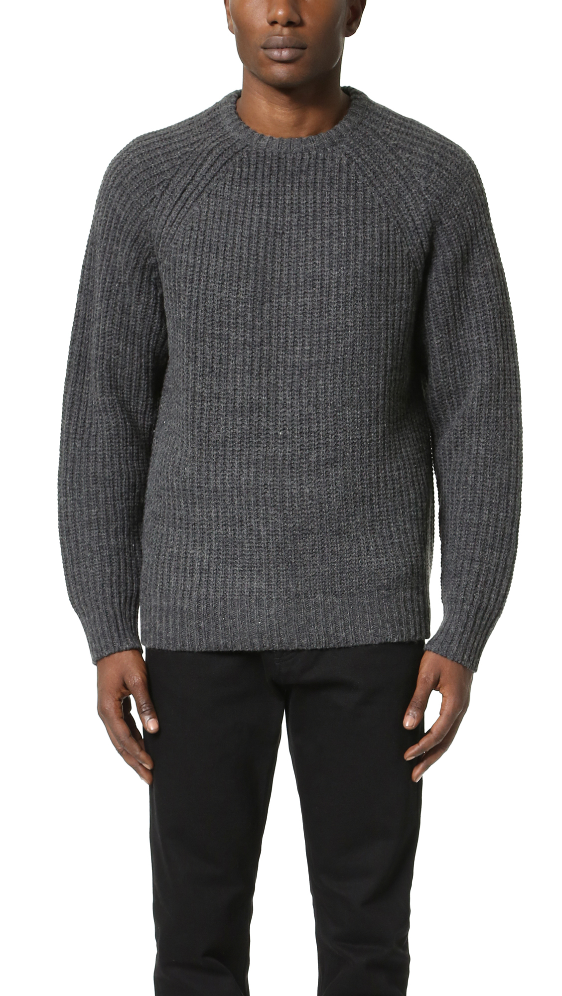 Lyst - Obey Mitte Sweater in Gray for Men