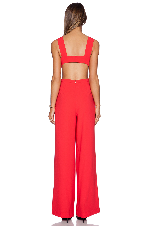 fafe2c6ddcf Lyst - BCBGMAXAZRIA Rosanna Jumpsuit in Red