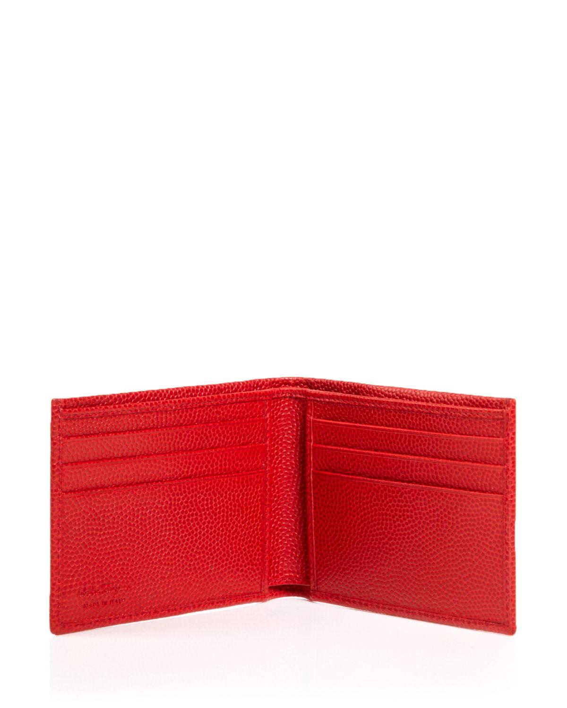 5cc890f2dc5e Lyst Ferragamo Ten Forty One Pebbled Leather Bi Fold Wallet. Salvatore  Ferragamo Calfskin Revival Wallet. Men Salvatore Ferragamo Wallets Red ...