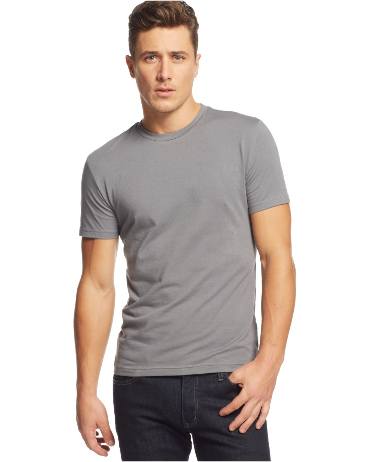 d295973eeb0 Lyst - Alfani Red Slim-fit Crewneck T-shirt in Gray for Men