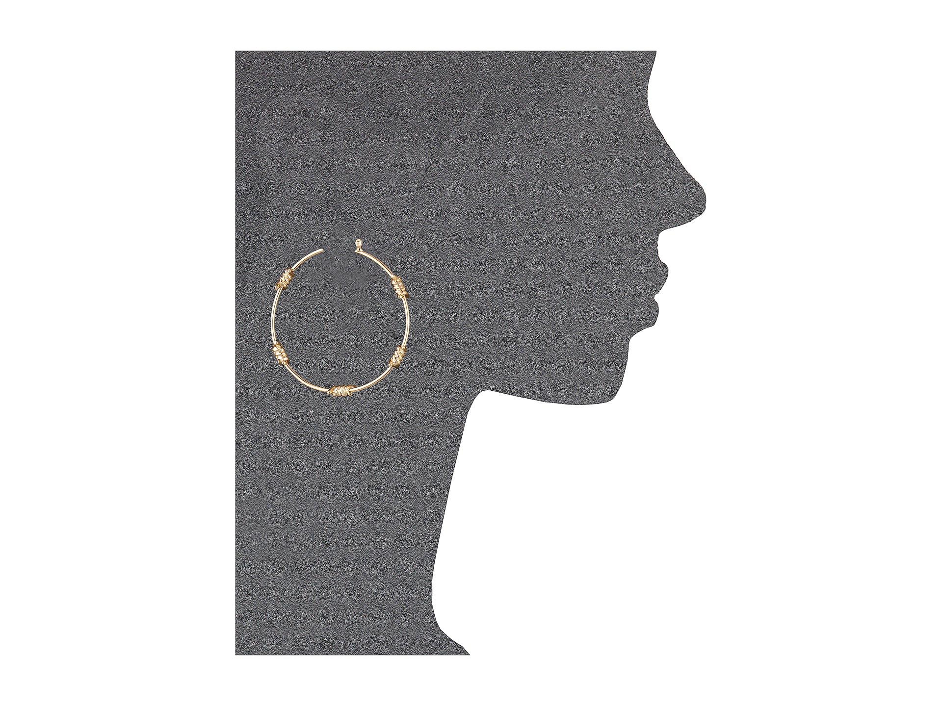 Lyst Guess Barb Wire Hoop Earrings In Metallic