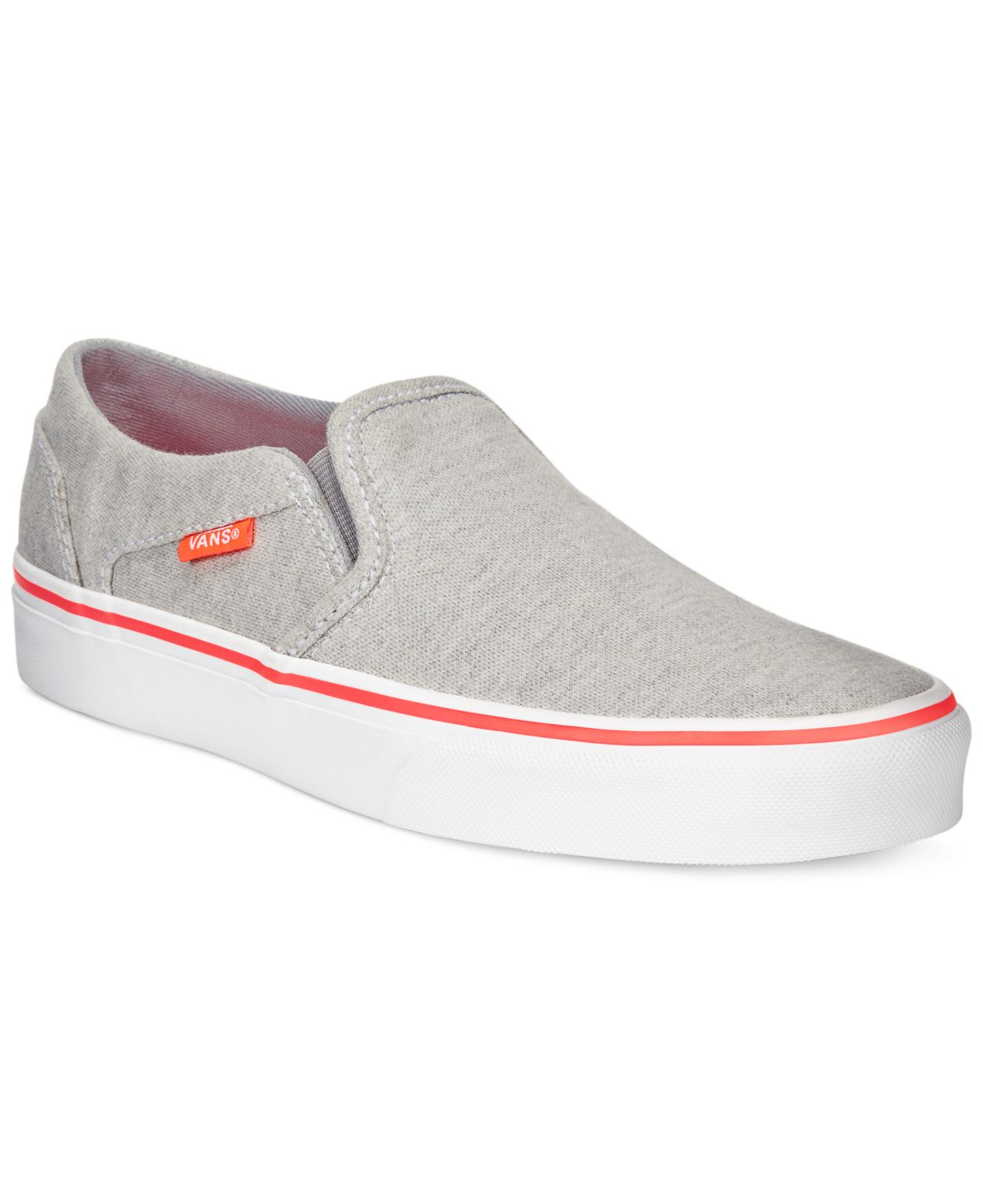 bafa3c6445 Lyst - Vans Women s Asher Classic Slip-on Sneakers in Gray