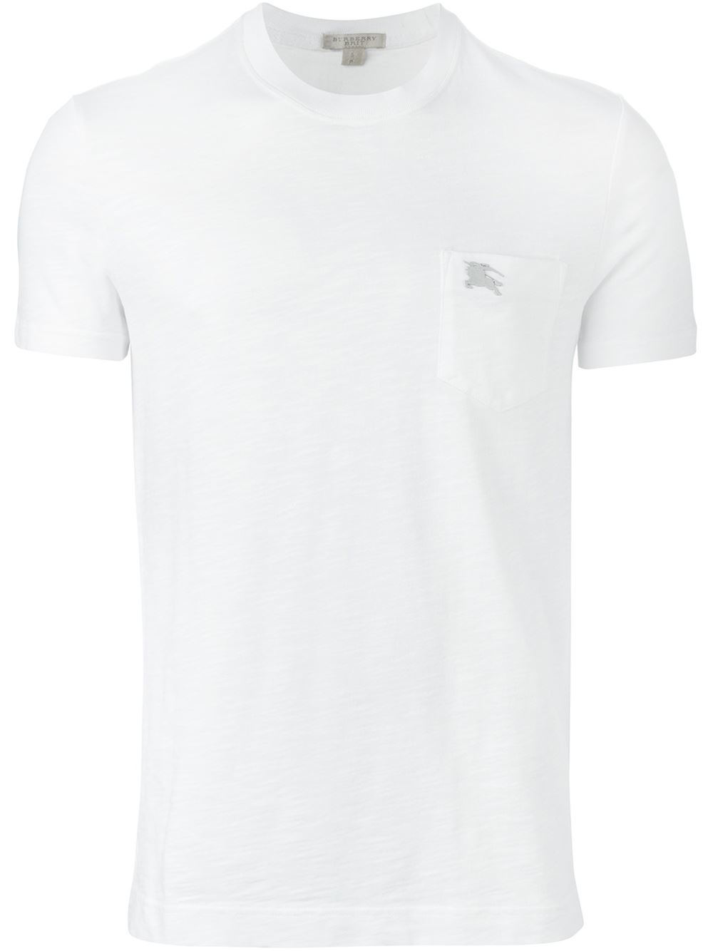 lyst burberry brit logo pocket t shirt in white for men. Black Bedroom Furniture Sets. Home Design Ideas
