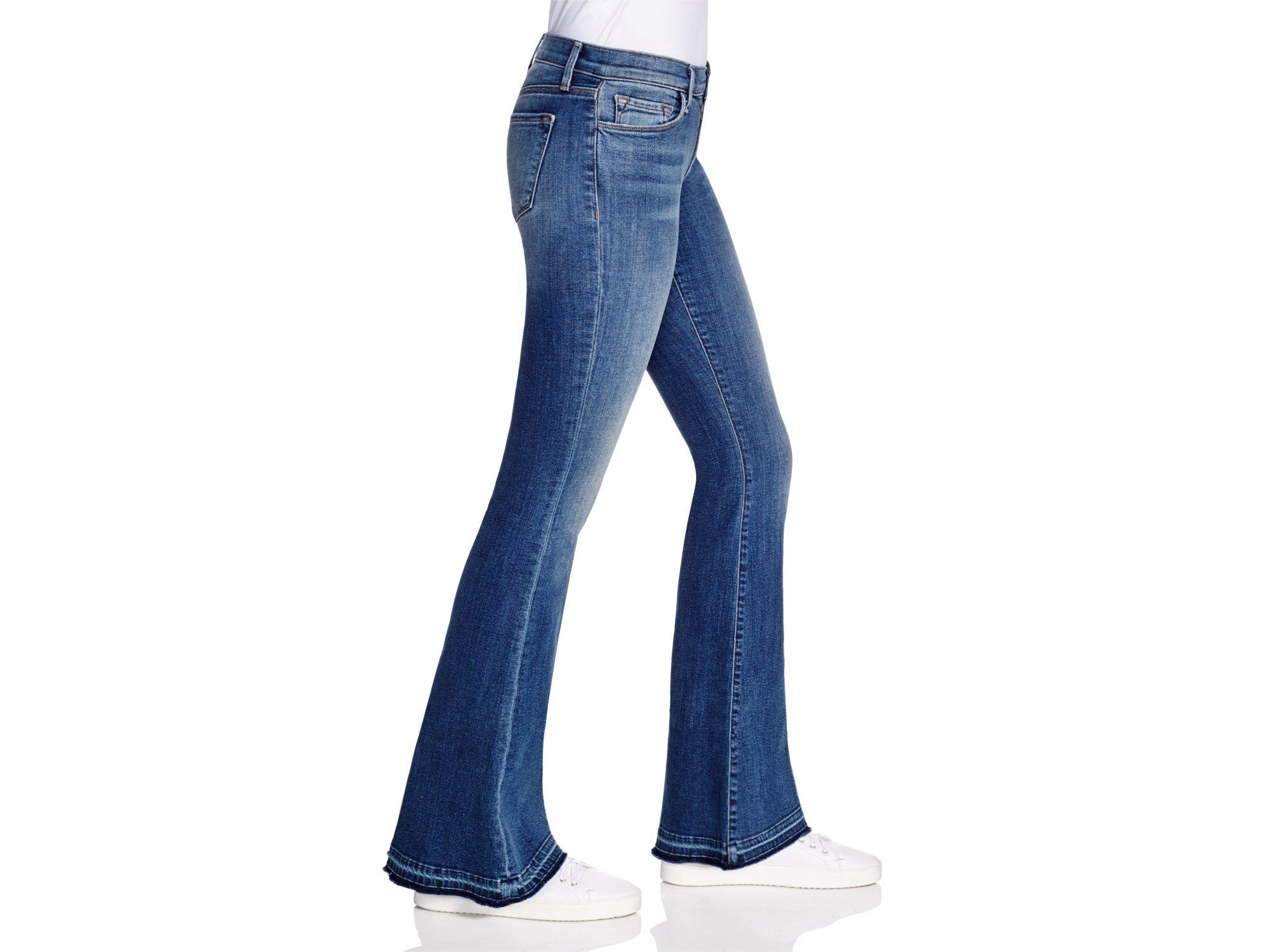 J brand Sneaker Flare Jeans In Ashbury in Blue | Lyst