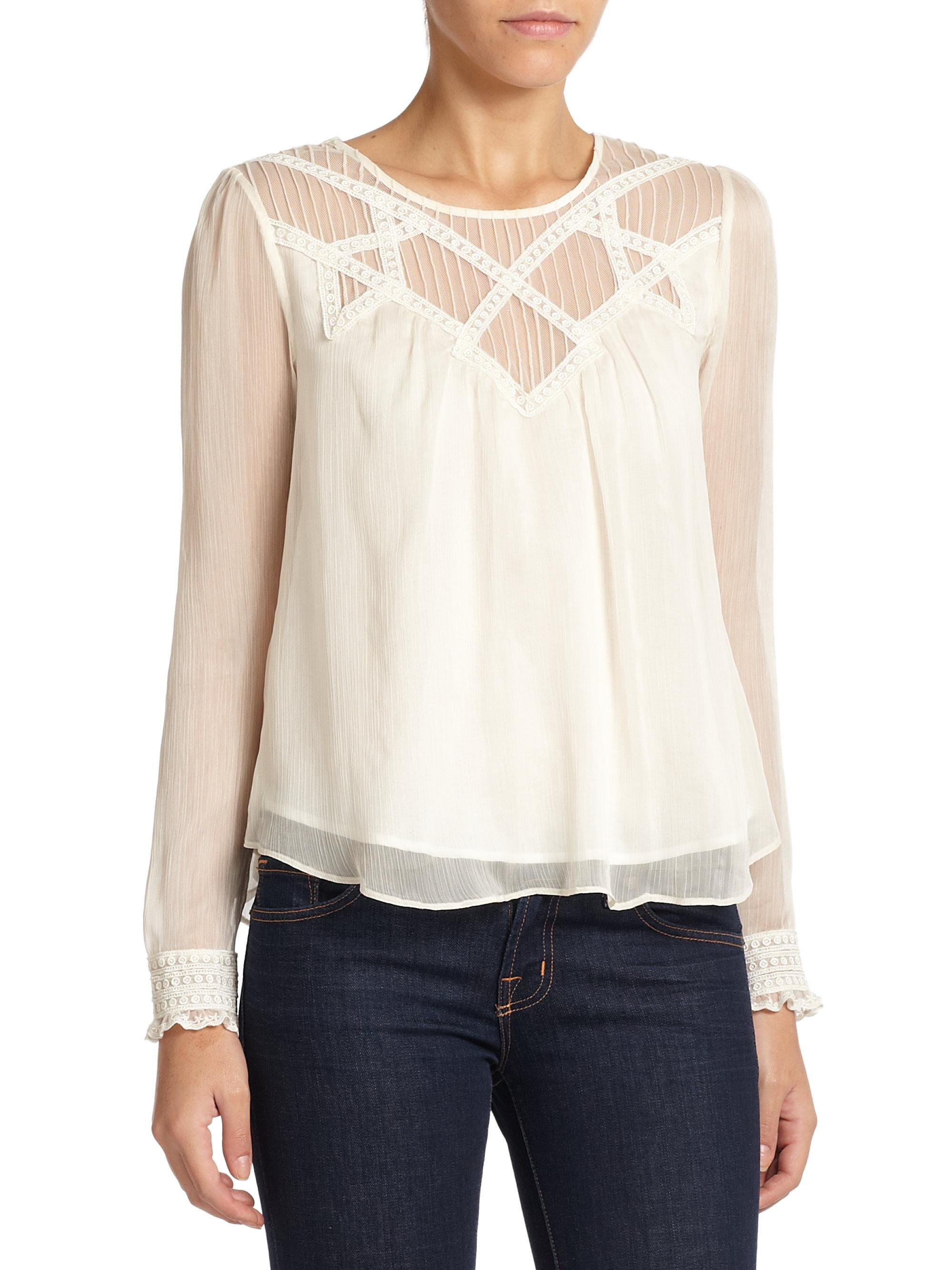 White Vintage Lace Blouse 5