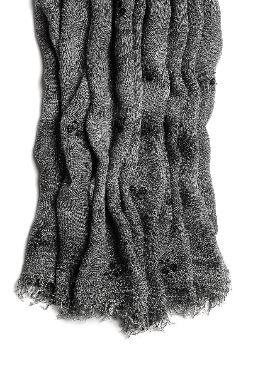 Rag & bone Flocked Floral Scarf in Black | Lyst