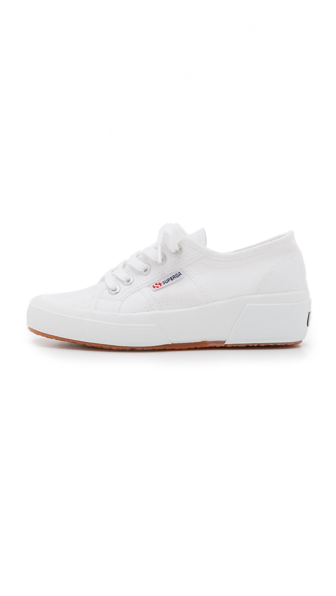 b101dcc367f8 Lyst - Superga Cotu Wedge Sneakers in White