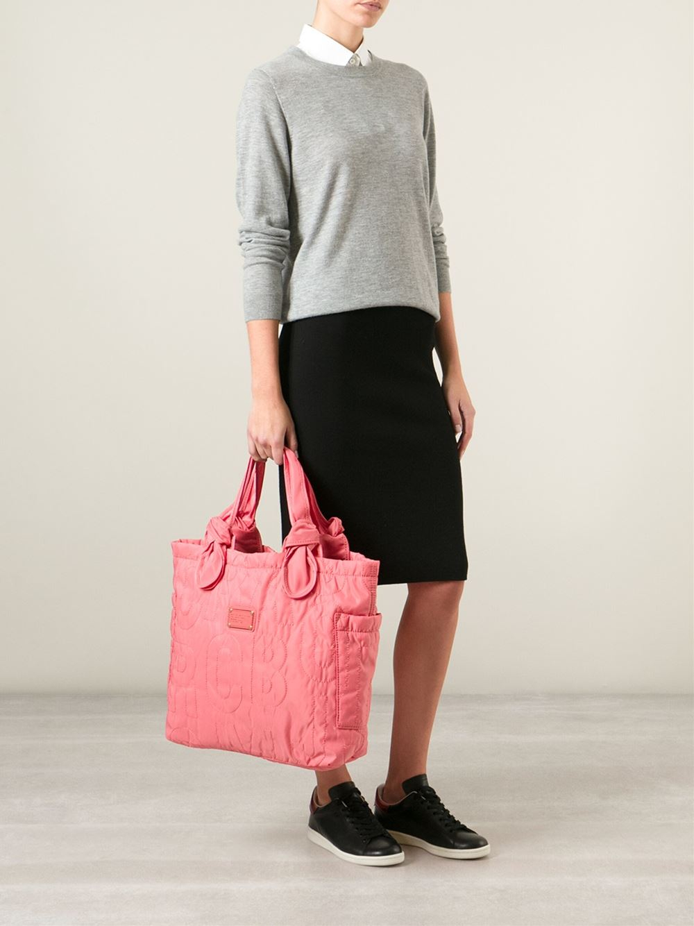 5a670caa5b8 Marc By Marc Jacobs Large 'Pretty Nylon Lil Tate' Tote in Pink - Lyst