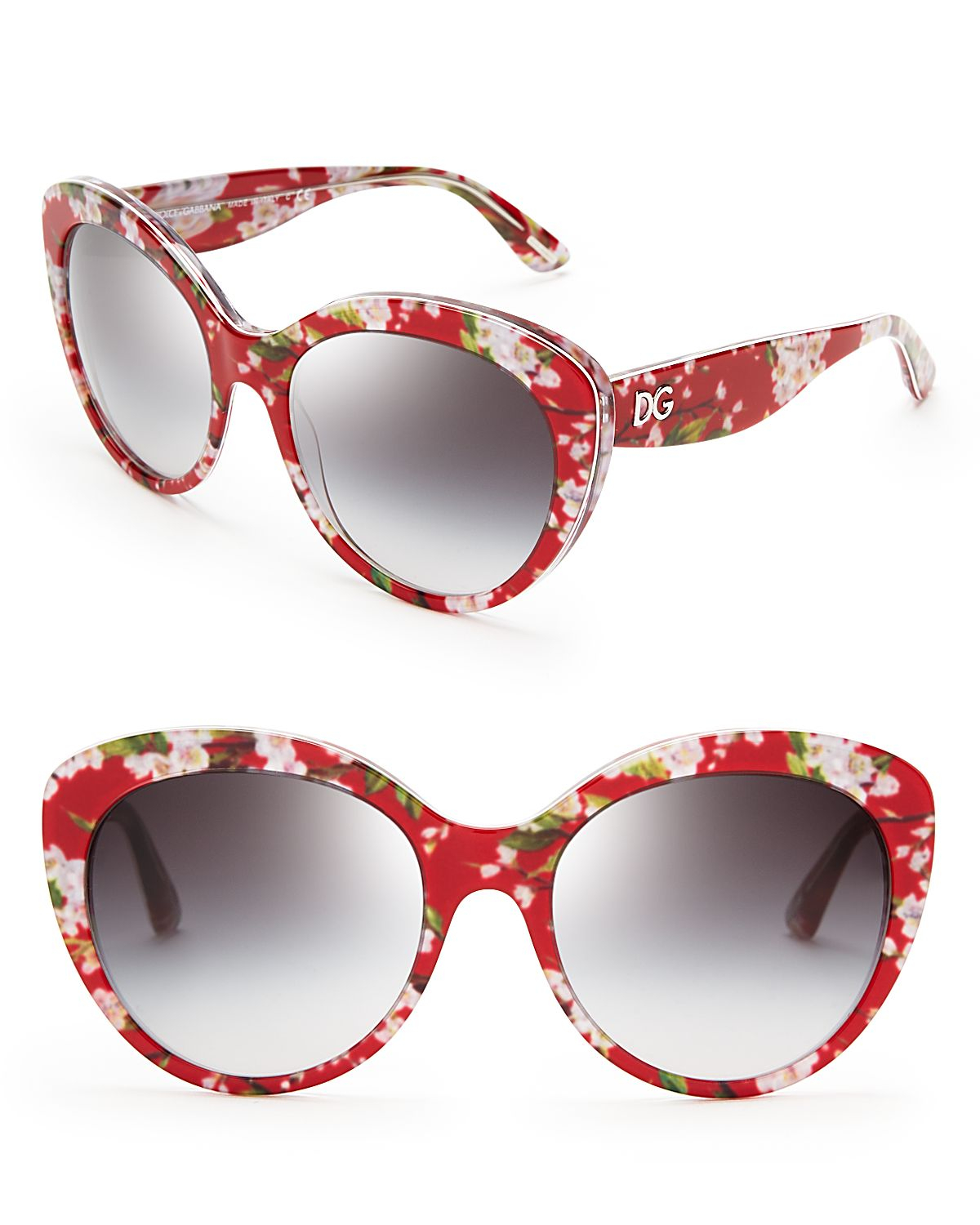 dd291bef580 Lyst - Dolce   Gabbana Dolce Gabbana Floral Cat Eye Sunglasses in Red