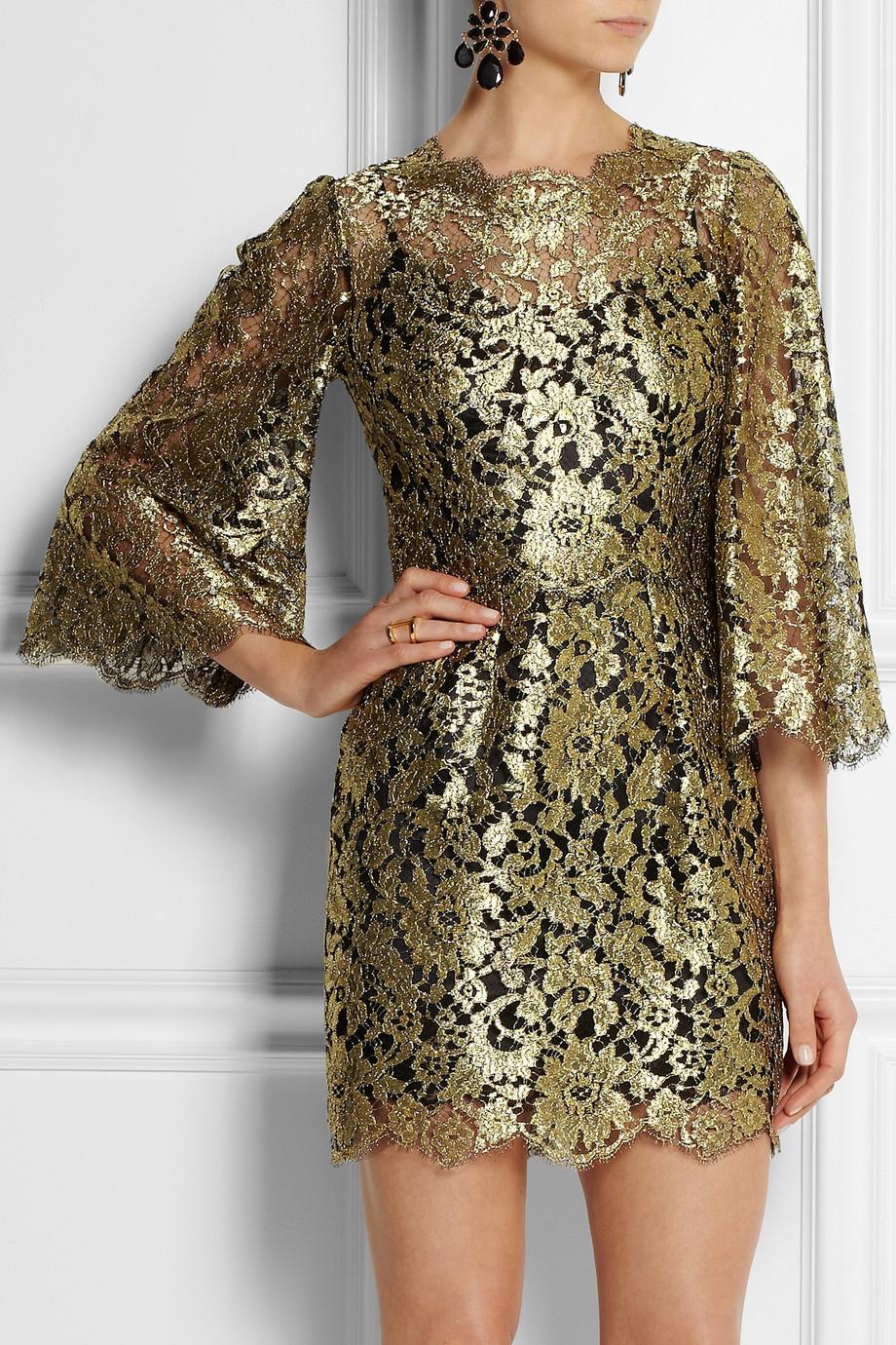 a5cad69b9a1b Dolce & Gabbana Swarovski Crystalembellished Metallic Lace Mini ...