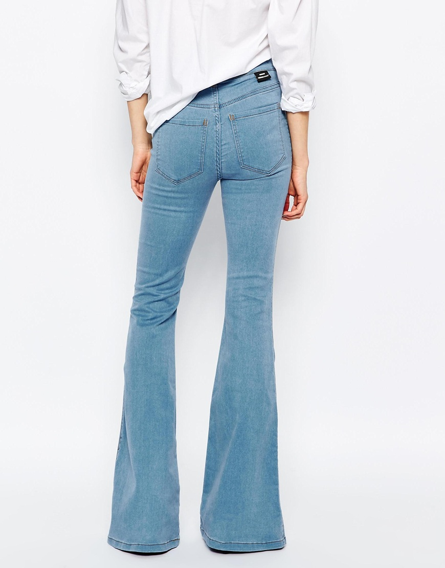 Dr. denim Brigitte High Waist Skinny Flare Jeans in Orange | Lyst