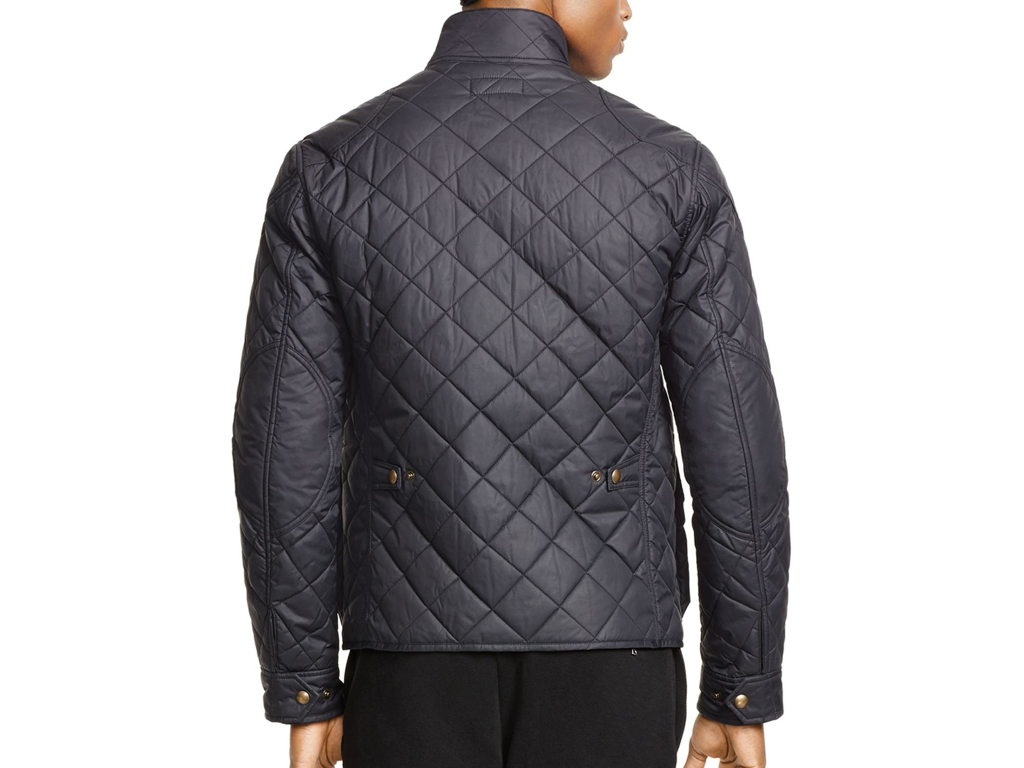 ralph lauren black polo quilted bike jacket for men lyst. Black Bedroom Furniture Sets. Home Design Ideas