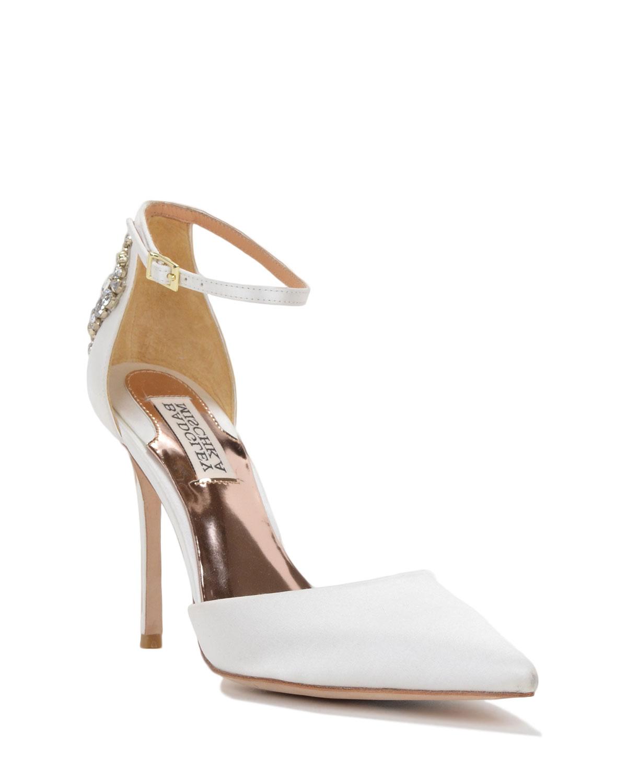 badgley mischka gem pointed toe d orsay evening shoe in