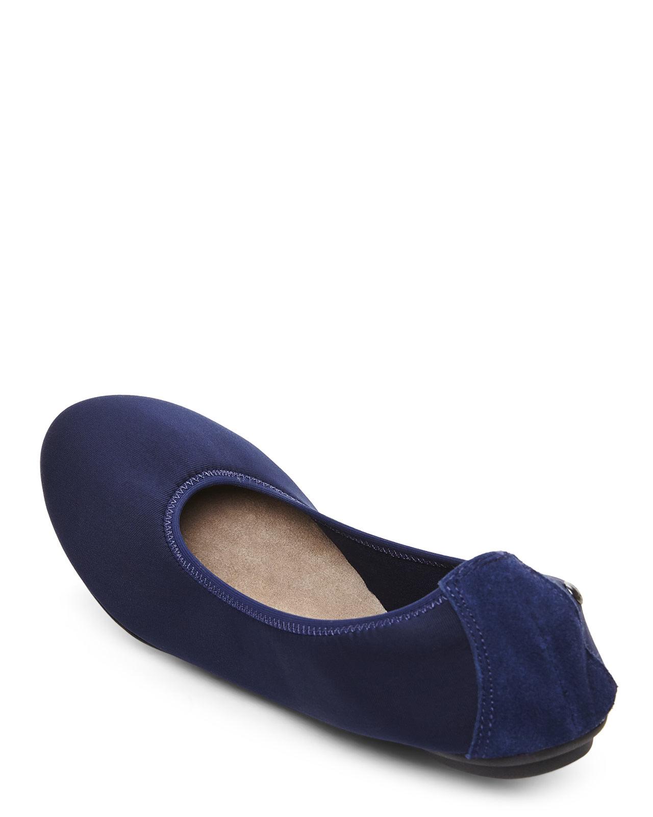 9e0616b11c9 Lyst - Hush Puppies Navy Chaste Ballet Flats in Blue