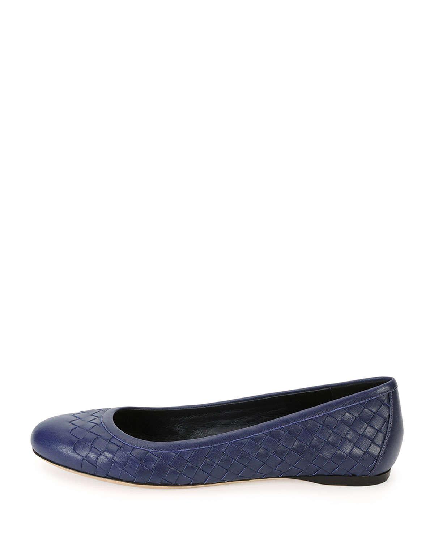 vendita a basso prezzo autentico scegli l'autorizzazione Bottega Veneta Leather Napa Intrecciato Ballerina Flat in ...