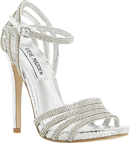 e1d09c886ee0 Steve Madden Cagged Diamante Strappy Heeled Sandals - For Women in ...