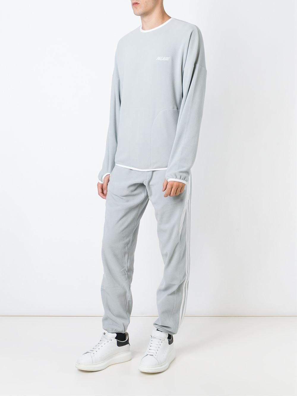 Luxury Lyst - Adidas Slim Grey Tracksuit Bottoms In Gray
