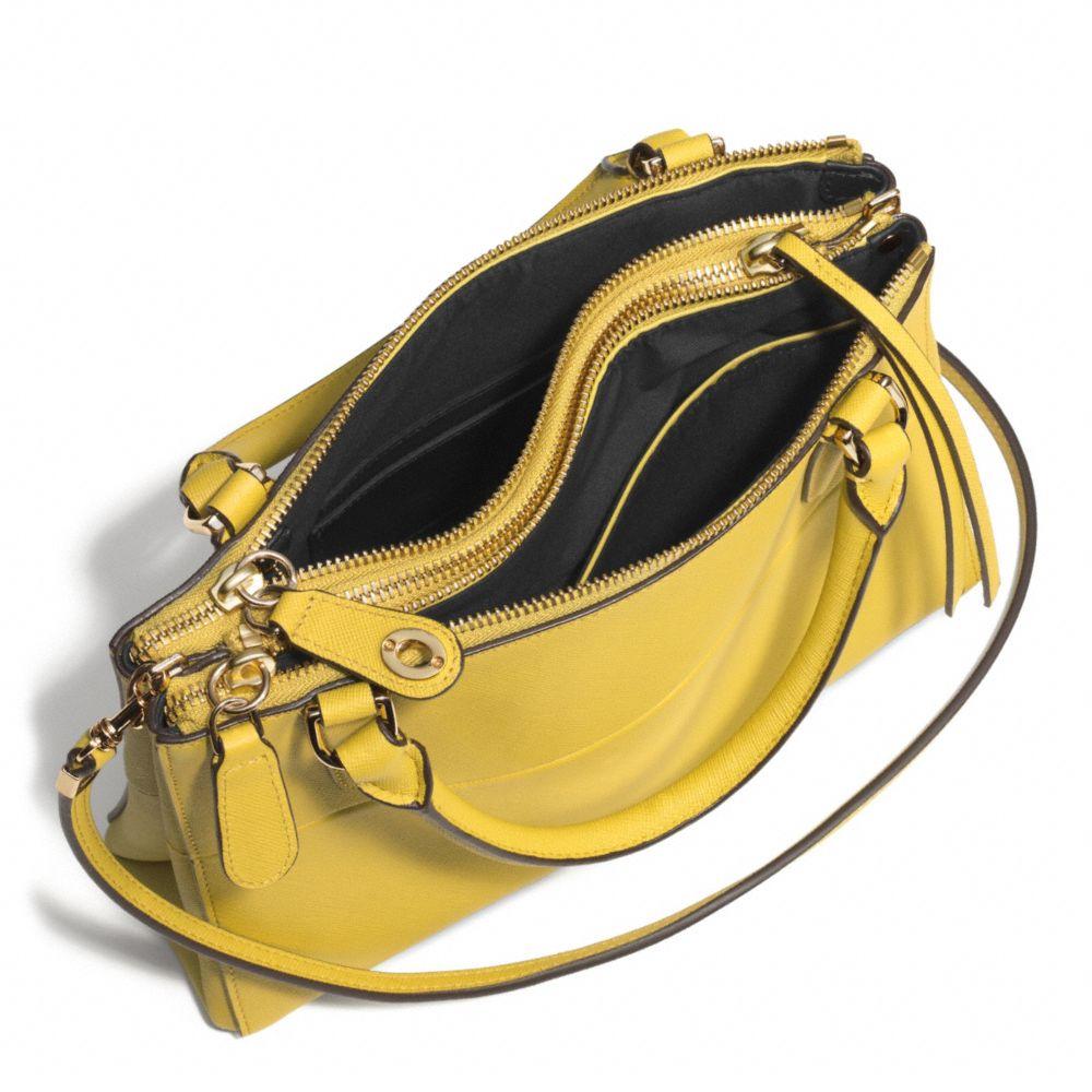 6321ebc5ec1b Lyst - COACH The Mini Borough Bag In Saffiano Leather in Green